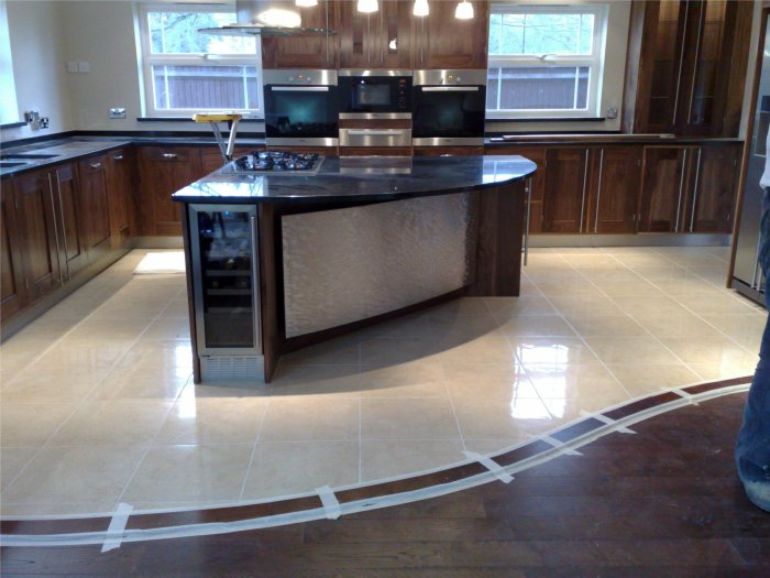 Repair of natural stone worktops